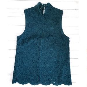 🎯 H&M Sleeveless Highneck Lace Top